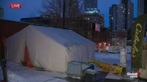 Edmonton firefighters participating in Rooftop Campout