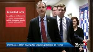 Democrats slam Trump for blocking release of memo