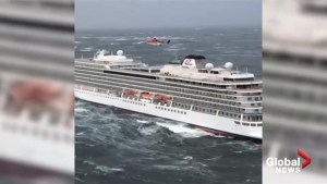 Passengers evacuated from cruise ship off coast of Norway