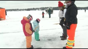Annual Family Day Ice Fishing on Chemong Lake attracted hundreds from the region