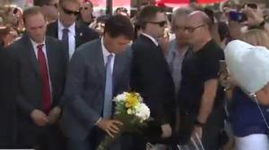 Trudeau pressed on handgun law reform while at Danforth funerals