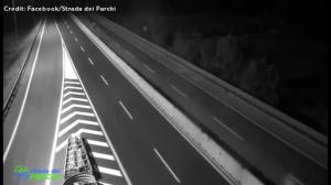 Traffic cameras capture impact of central Italy earthquake