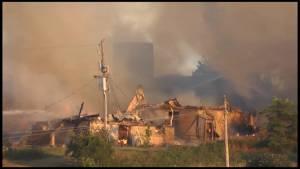 Fire rips through buildings at farm in Cavan Monaghan Township