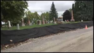 Excavation work near Millbrook cemetery