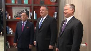 Mike Pompeo greets North Korean envoy in Washington