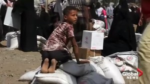 Truce in Yemen's civil war lets aid pour into lifeline Hodeidah port