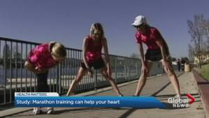 Training for a marathon can help rejuvenate your heart
