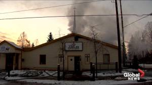 Damaged power lines from earthquake suspected cause of church fire in Anchorage, Alaska