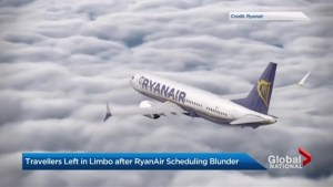 What was behind RyanAir's canceled flights?