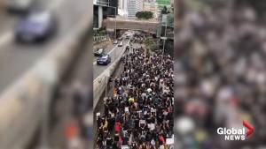 Hong Kong teachers march in solidarity with pro-democracy movement