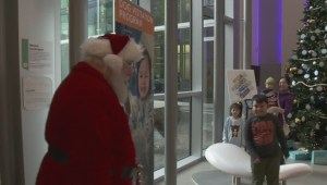 Santa visits BC Childrens Hospital to help spread some cheer