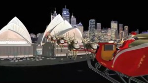 Santa tracker update: Santa arrives in Australia, flies over Sydney Opera House
