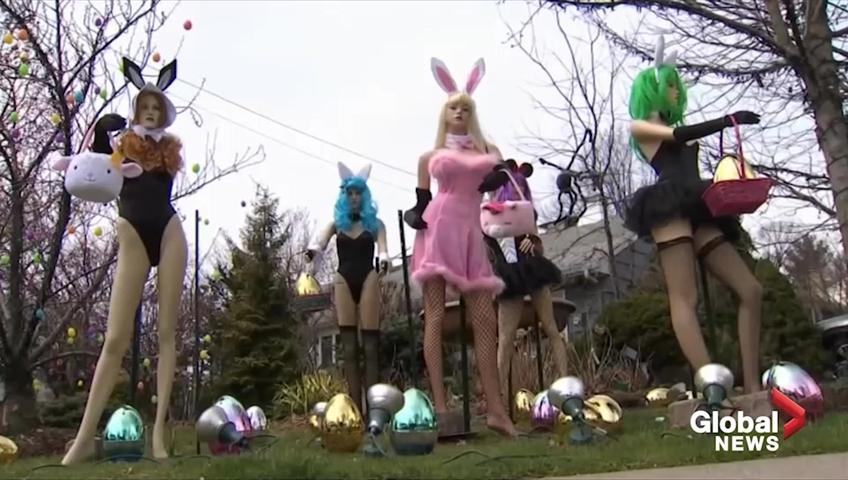 New Jersey woman destroys her neighbor's 'sexy' Easter lawn display