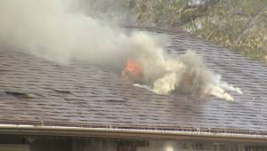 RAW: Winnipeg fire crews battle blaze at Charleswood home