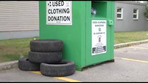 GARBAGE CHARITY BINS