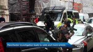Manchester police continue raids in search for suspects in suicide bombing at Ariana Grande concert (01:49)