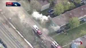 Apartment fire in Edmonton's Holyrood area