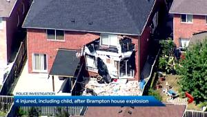 Explosion at Brampton home leaves 4 injured, including child (01:30)