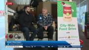 Play video: Can Man Dan again collecting for the Edmonton Food Bank