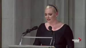 John McCain funeral: Meghan McCain delivers blow to Donald Trump