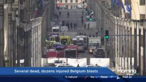 Brussels airport blast sends passengers 'suddenly rushing'
