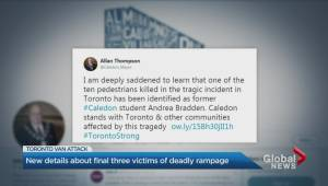 What we know about the latest victims named in the Toronto van attack