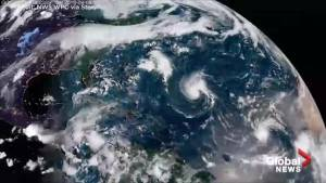 National Weather Service releases time-lapse video of Hurricane Florence 'from start to finish' (01:00)