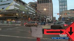 Edmonton downtown street closed for LRT construction