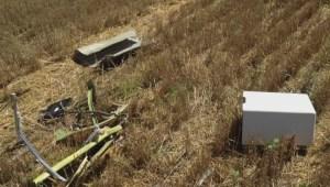 Global National reporter in Ukraine debris field