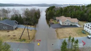 Flooding on Cameron Road in Rothesay, N.B.