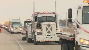Tow truck procession honours driver killed on the job