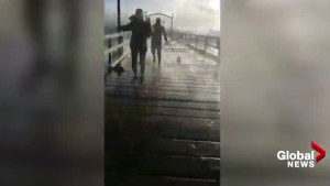 Dramatic escape from collapsed White Rock pier