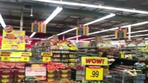 Supermarket shakes as 7.1 earthquake hits Southern California