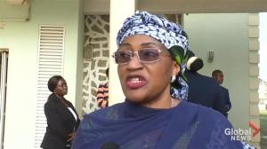 Nigeria's First Lady meets with freed Chibok girls