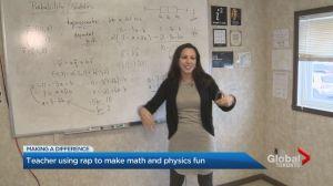 Math and physics teacher at Vaughan high school teaches through music