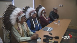 Siksika Nation rallies against government over placement of children in non-Indigenous foster homes