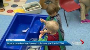 Liberals vow to make preschool childcare free by 2020 (01:47)
