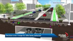 City Council delays vote on potential bike lanes on Yonge Street in North York