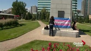 Calgarians in silent protest over Trump's military transgender ban