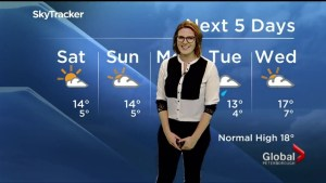 Sunshine for the weekend, rain to start next week