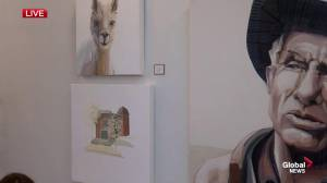 Art inside the 2019 Calgary Stampede Lotteries Dream Home