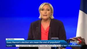 How is Marie LePen handling defeat in the French election?