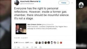 U.S. Congressman apologizes for recording video inside Auschwitz gas chamber