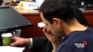 Disgraced doctor Larry Nassar cries after victim forgives him in court