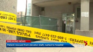Man rescued from elevator shaft in downtown Toronto