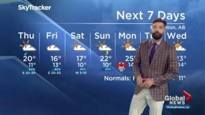 Global Edmonton weather forecast: June 26