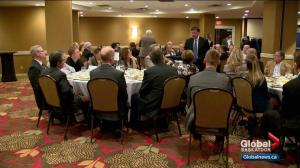 Saskatchewan Party leadership candidates go 'speed dating' at NSBA luncheon