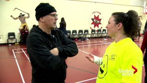 Theo Fleury speaks with N.S. high school students about mental health