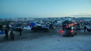 Dakota Access Pipeline protesters celebrate their victory after pipeline temporarily halted