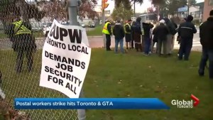 Canada Post strike extends to Greater Toronto Area